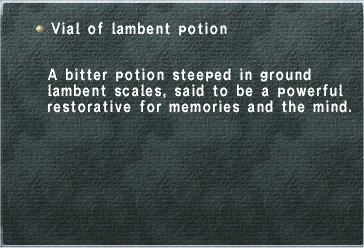 Vial of Lambent Potion