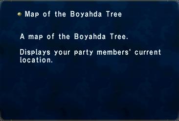 Key Item Map of the Boyahda Tree