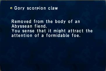 Gory Scorpion Claw