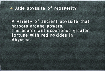 Jade Abyssite of Prosperity