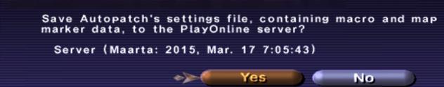 Settings file save