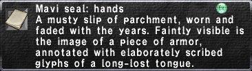 Mavi Seal Hands