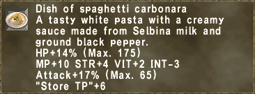 Dish of spaghetti carbonara