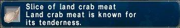 Land crab meat