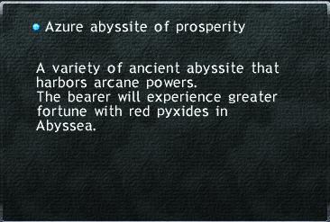 Azure abyssite of prosperity