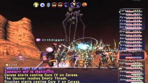 FFXI NM Saga 325 Usurper VNM Full Battle