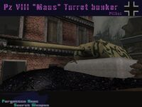 Panzer VIII Maus Turret bunker