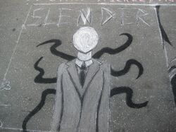 Slender Man graffitti