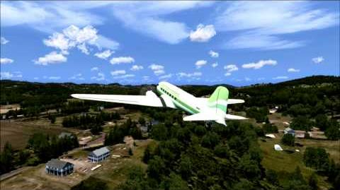 FSX Flight Simulator X HD Emerald Harbor Air Douglas DC 3 WA79 Walter Suttons Private Strip