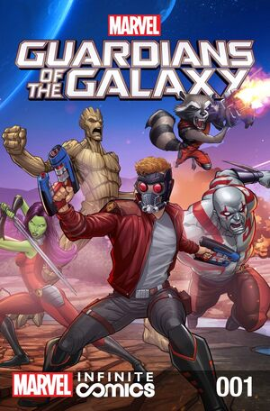 Marvel Universe Guardians of the Galaxy Infinite Comic Cover Issue 1