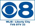 WLIB CBS 8 Logo