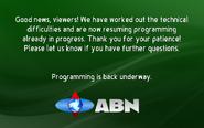 ABN tech problem corrected
