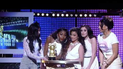 Fifth Harmony Accepts the ''Thats My Jam'' Award at the 2014 RDMA's