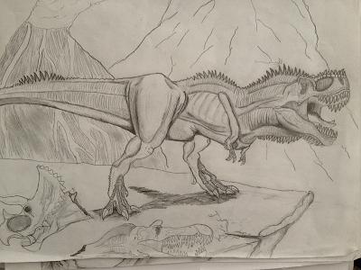 T.rex cliff