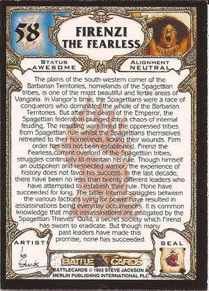 58 Firenzi the Fearless US back