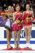 2007-2008 GPF Ladies Podium
