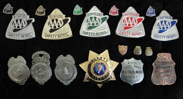 File:School Safety Patrol Badges.jpg