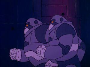 Robot Gorillas on the run