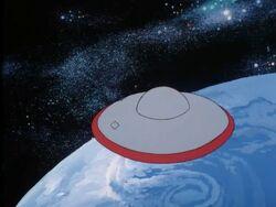 Spaceship liftoff
