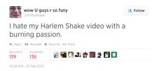 Harlem Shake Tweet