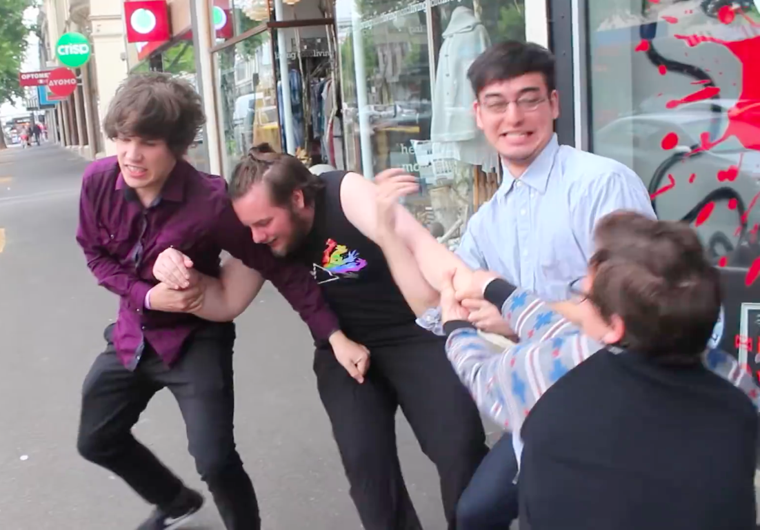 Frank, Max, And Idubbbz Forcing Anything4views Into The Tattoo Store