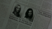 Christa and Blake's Deaths in Newspaper