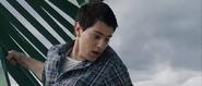 Sam witnessing Peter as he falls off the bridge