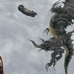 Bahamut attacking the airships of <a href=