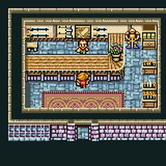 Cornelia's weapon shop (GBA).