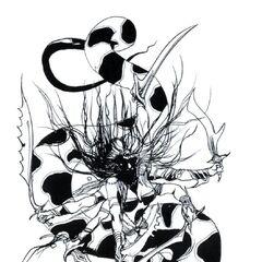 Marilith artwork by Yoshitaka Amano.