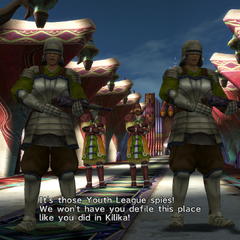 Warrior Monks guarding the New Yevon temple in Bevelle, <i>Final Fantasy X-2</i>.