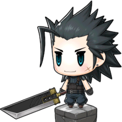 Buster Sword with Zack in <i><a href=