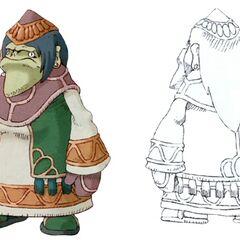 Dwarf female in <i>Final Fantasy IX</i>.