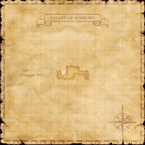 A map of the Valley of Sorrows.
