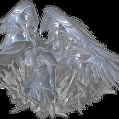 Unused model of Cid Raines in crystal stasis.