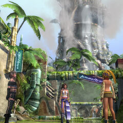 Iutycyr Tower in <i>Final Fantasy X-2 HD Remaster</i>.
