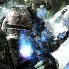 Healing magic in <i>Final Fantasy XIV</i> FMV.