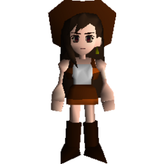 Tifa dressed in her guide outfit.
