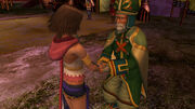 Maechen and yuna shake hands