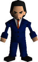 Model de Reeve em Final Fantasy VII.