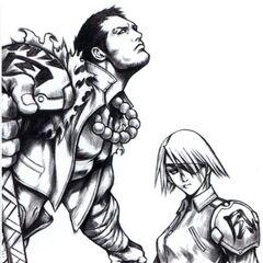 Fujin and Raijin Sketch work.