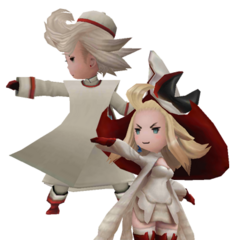 Ringabel and Edea as White Mages in <i><a href=