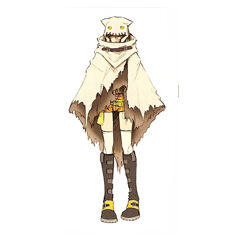 Artwork of Yuffie's cloak by Tetsuya Nomura.