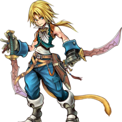 Artwork of Zidane wielding the Mage Mashers in <i><a href=