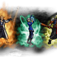 Seifer (Ultimate), Raijin (Ultimate) & Fujin (Ultimate).