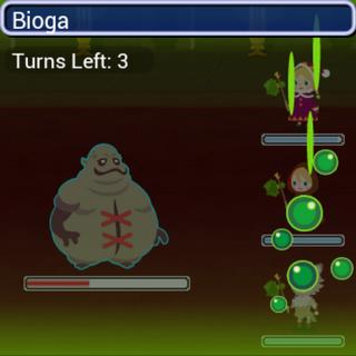 Bioga in battle.
