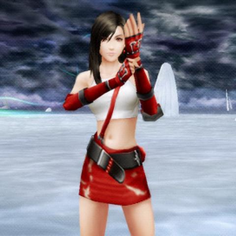 Close Up of Tifas DLC Costume