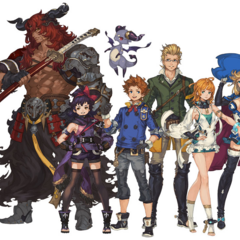 Artwork of the main characters (<i>Toki no Suishō</i>).