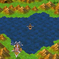 Lake Dohr on the World Map (3D).