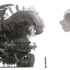 Concept art of a Yagudo Turret.